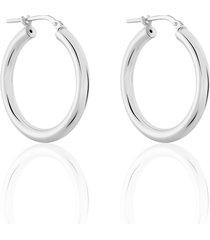 orecchini a cerchio in argento rodiato per donna