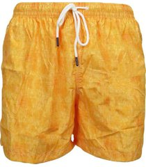 orange men's boxer swimsuit