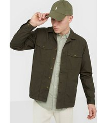 only & sons onsaiden ls light overshirt skjortor mörk grön