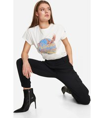 alix the label 204892639 ladies knitted washed classy t-shirt. wit