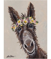 """hippie hound studios donkey rufus flower crown canvas art - 20"""" x 25"""""""