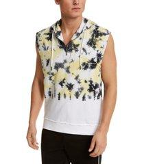 inc men's sleeveless tie dye hoodie, created for macy's