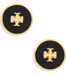 women's tory burch kira enamel circle stud earrings