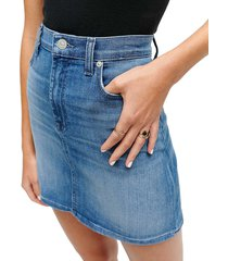 7 for all mankind women's denim mini skirt - shoreline drive - size 27 (4)