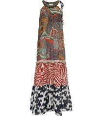 anjuna long multicolor cotton dress
