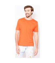 camiseta masculina basic color emporio alex malha laranja