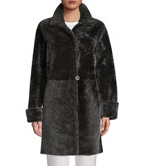 reversible shearling & leather coat