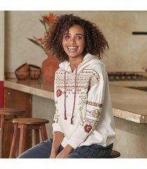 driftwood jeans av denim embroidered bloom hoodie