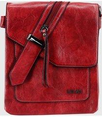 bandolera casual cami rojo lilas carteras
