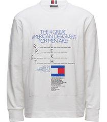 be bold terry sweatshirt sweat-shirt trui wit tommy hilfiger