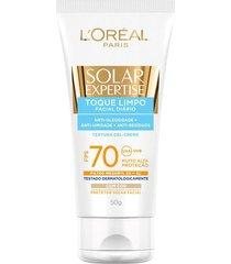 protetor facial solar loréal toque limpo expertise fps 70