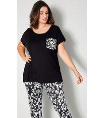 shirt sara lindholm zwart::offwhite