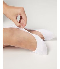 calzedonia invisible low cut socks woman white size 34-36