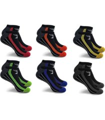 men's and women's ankle-length high energy compression socks - 6 pairs