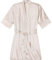 kimono in satin (beige) - bodyflirt