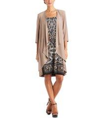 r & m richards 2-pc. open-front jacket & necklace dress