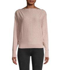 allsaints women's elle boatneck sweater - whisper pink - size xs