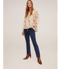 lange bedrukte blouse
