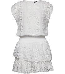 bee dress kort klänning vit ravn