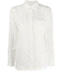fringed plaid shirt