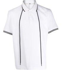 blackbarrett drawstring polo shirt - white