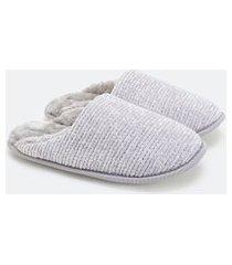 pantufa lisa com pelinhos dentro | accessories | cinza | 36/37