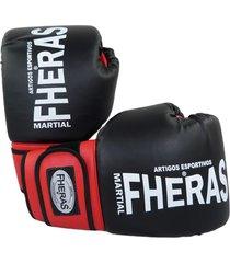 luva boxe muay thai fheras new orion pró preto .