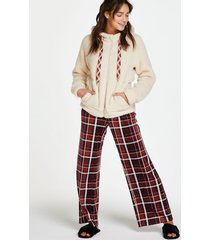 hunkemöller petite pyjamasbyxor i velour röd