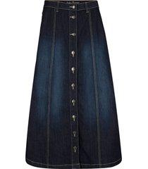 gonna midi di jeans elasticizzato comfort (blu) - john baner jeanswear