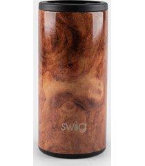 swig life™ black walnut skinny can cooler - brown