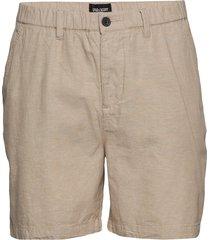 cotton linen walkshort shorts chinos shorts beige lyle & scott