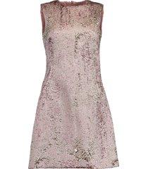 a-line jacquard mini dress