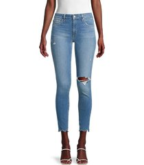 joe's jeans women's curvy destroyed skinny ankle jeans - montebello - size 32 (10-12)