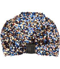 ingie paris sequinned turban - multicolour
