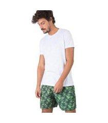 t-shirt básica flamê fit premium taco masculina