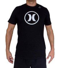 camiseta hurley df circle icon-gris-plateado-negro
