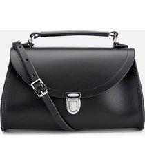 the cambridge satchel company women's mini poppy shoulder bag - black