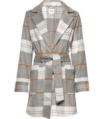 u7016, jacket wollen jas lange jas grijs saint tropez