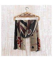 wool shawl, 'autumn muse' (india)