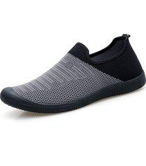 sneakers casual sportive con suola morbida traspirante in tessuto per uomo