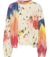 paula's ibiza tie-dye cashmere sweater