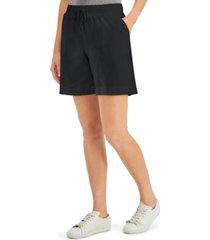 karen scott knit shorts, in regular & petite, created for macy's