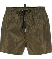 dsquared2 drawstring-waist swim shorts - green
