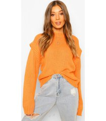 grote trui met schouderopvulling, orange