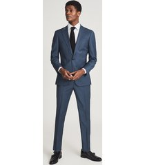 reiss extra - wool slim fit blazer in airforce blue, mens, size 46