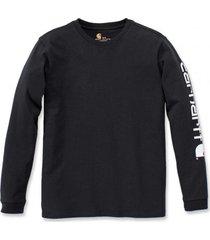 carhartt shirt women workwear logo l/s black-xs