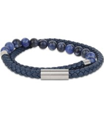 bespoke men's gemstone beaded bracelet
