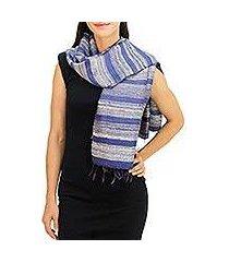silk scarf, 'sapphire mystery' (thailand)