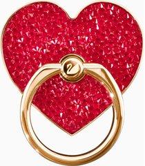 anello adesivo glam rock, rosso, placcatura mista