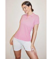 basic polo t-shirt, pink